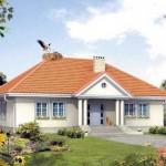 Plano de casa de 13 x 16 m