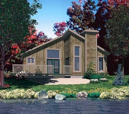 Plano de casa de lago