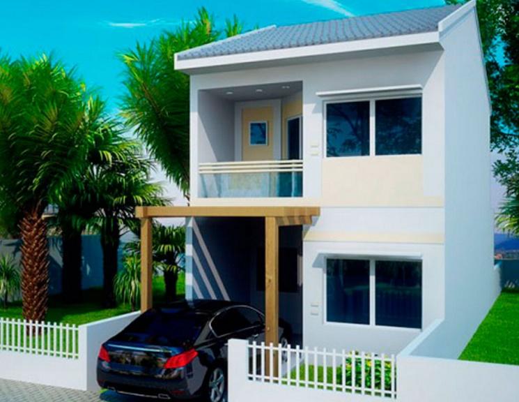Plano de casa de 106 metros cuadrados con dos pisos for Casa de 40 metros cuadrados
