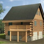 Plano de casa de madera con cochera