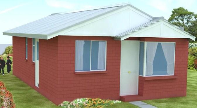 Casa sencilla de 3 dormitorios