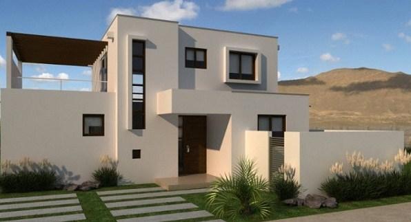 Plano de casa minimalista de dos pisos for Fachadas para casas pequenas de dos pisos