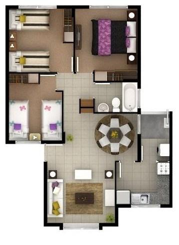 Modelo de casa de 3 dormitorios - copia
