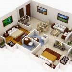Planos de apartamentos modernos