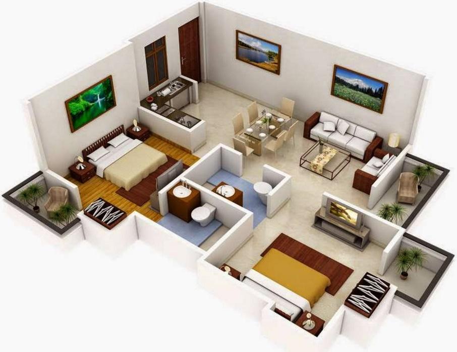 Plano de apartamento for Planos de apartamentos modernos