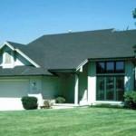 Plano de casa con techo a una agua