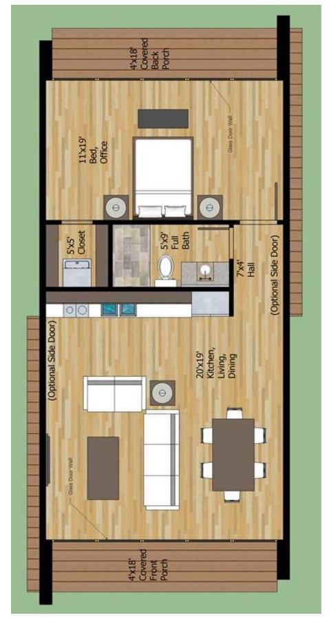 Plano de casa de 55 metros cuadrados for Apartamentos de 30 metros cuadrados