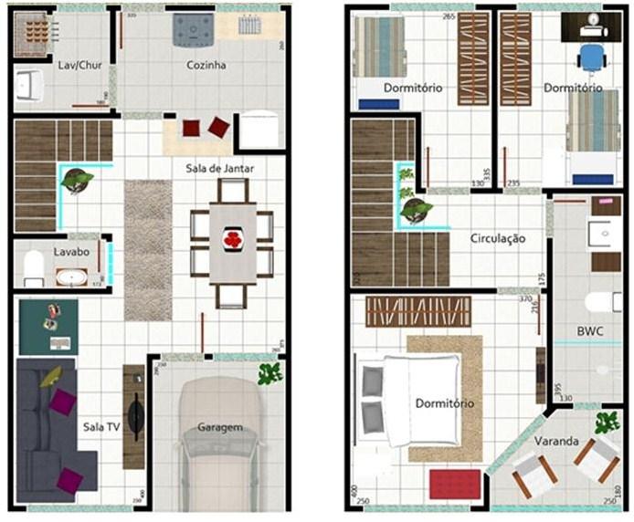 Plano de casa de dos pisos y 150 m2 for Plano casa un piso