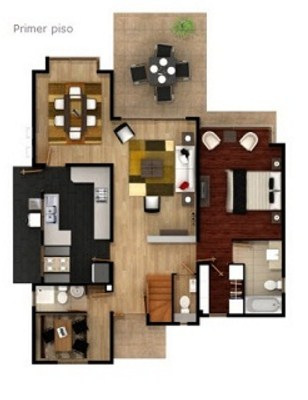 Plano de casa minimalista de dos pisos for Planos casa minimalista 3d