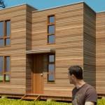 Plano de casa moderna de 3 dormitorios en 2 pisos