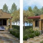 Plano de casas de 2 dormitorios con medidas en metros