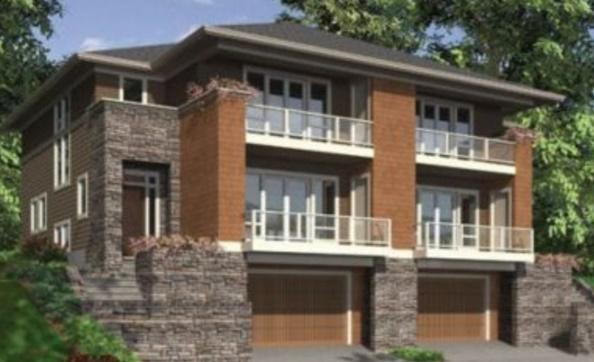 Plano de condominio de 3 pisos