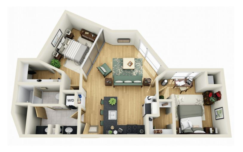 Disenos de casas modernas en 3d planos de casas dep peq for Planos de apartamentos modernos