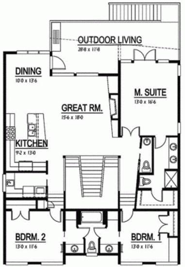 Plano de duplex amplio