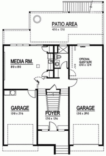 Plano de duplex grande