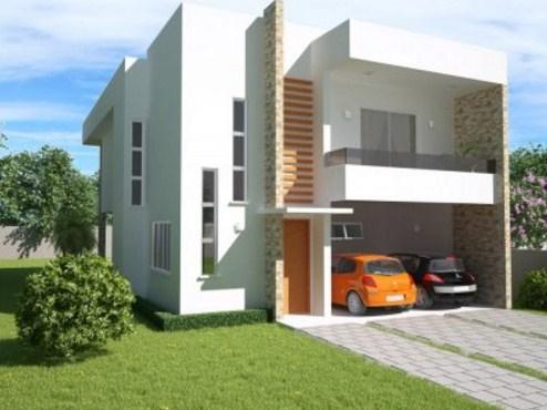 Plano de duplex moderno y familiar