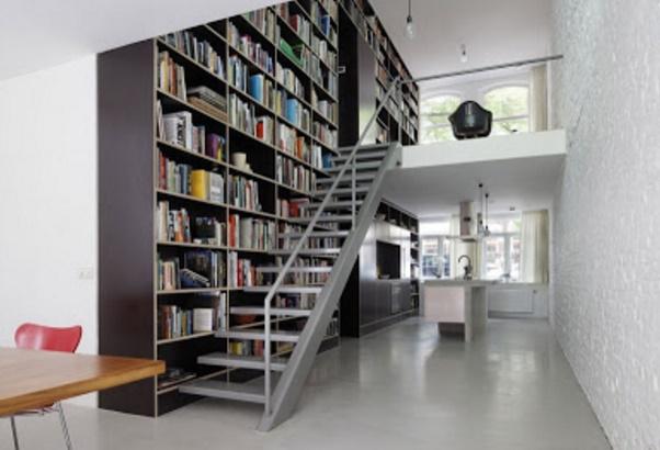 Plano de loft moderno de 3 dormitorios