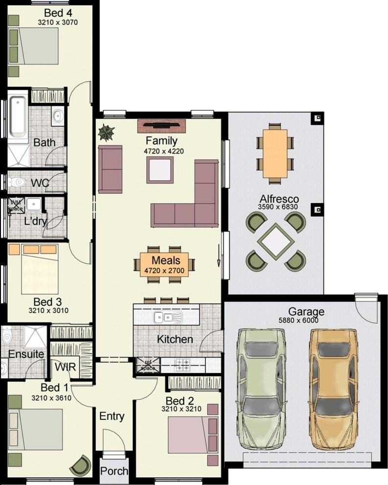 Planos de casa de una planta for Casas modernas de 70m2