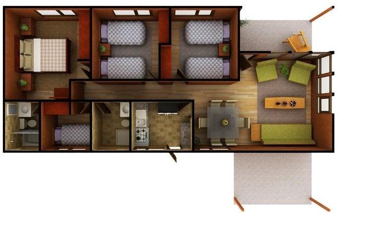 Planos de casas de 4 dormitorios en una planta for Planos de casas de tres dormitorios en una planta