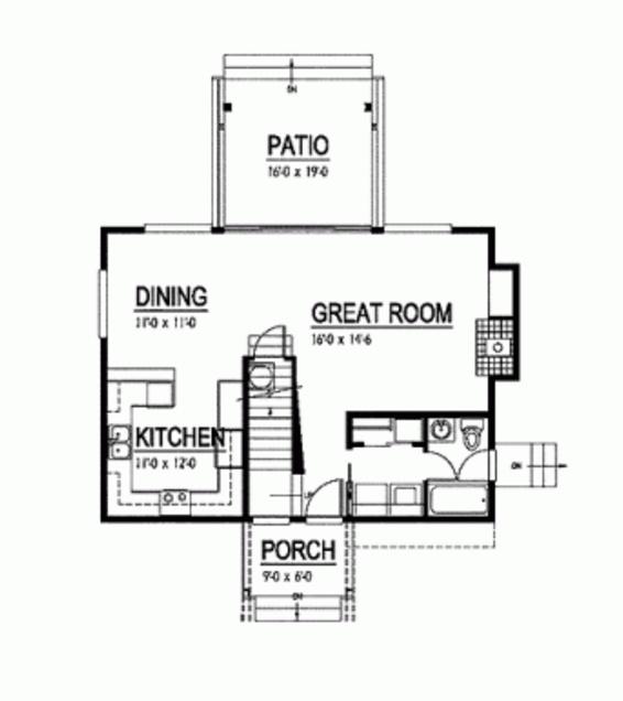casa de 3 habitaciones y 2 plantas