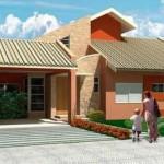 Plano de casa de 90 m2 y 3 dormitorios
