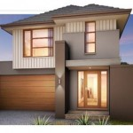 Plano de casa moderna con 4 dormitorios