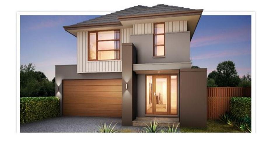 Plano de casa moderna con 4 dormitorios for Planos de casas 200m2
