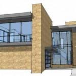Plano de casa moderna de 4 dormitorios