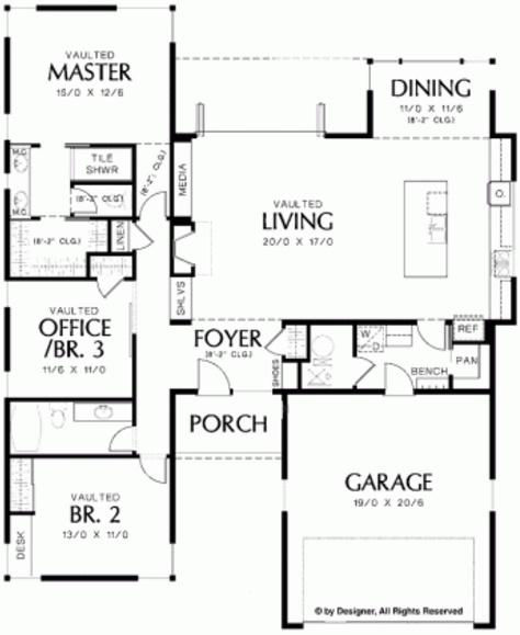 plano de casa de 160 metros cuadrados