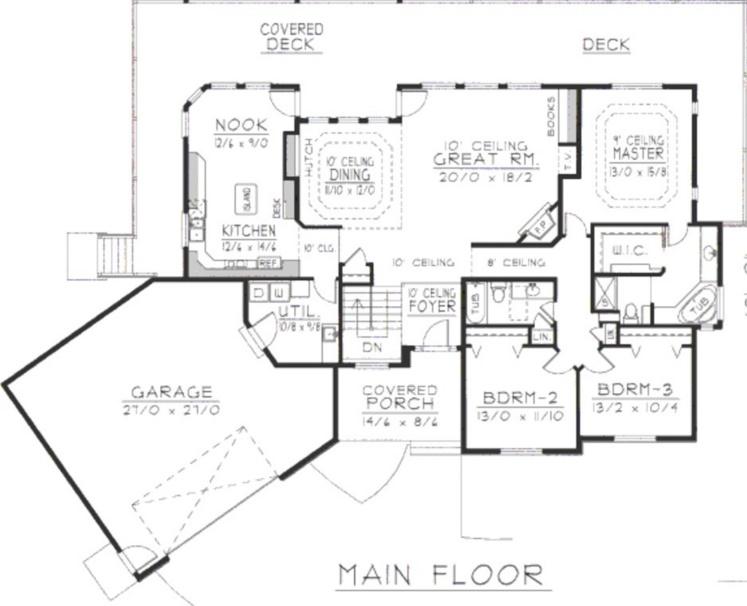 plano de casa de estilo tradicional