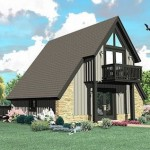 Plano de casa alpina de dos pisos