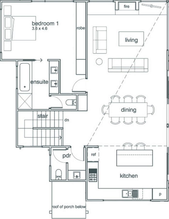 Casa con 210 metros cuadrados