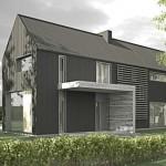 Plano de casa de 3 dormitorios estilo granero