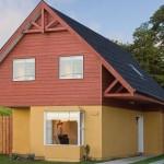 Plano de casa de 4 dormitorios en 2 pisos