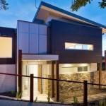 Plano de casa de dos pisos y 210 metros cuadrados