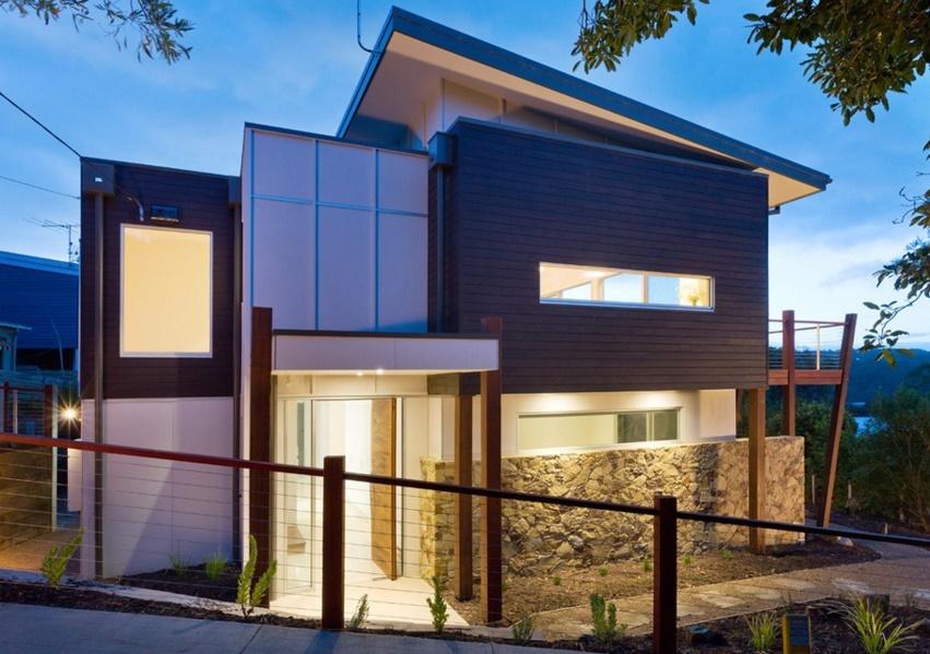 Plano de casa de dos pisos y 210 metros cuadrados - Planos de casas de 100 metros cuadrados ...