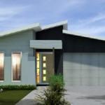 Plano de casa moderna 3 dormitorios y cochera doble