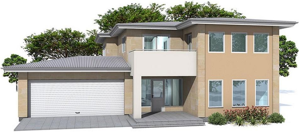 Casa moderna con ventanas bonitas