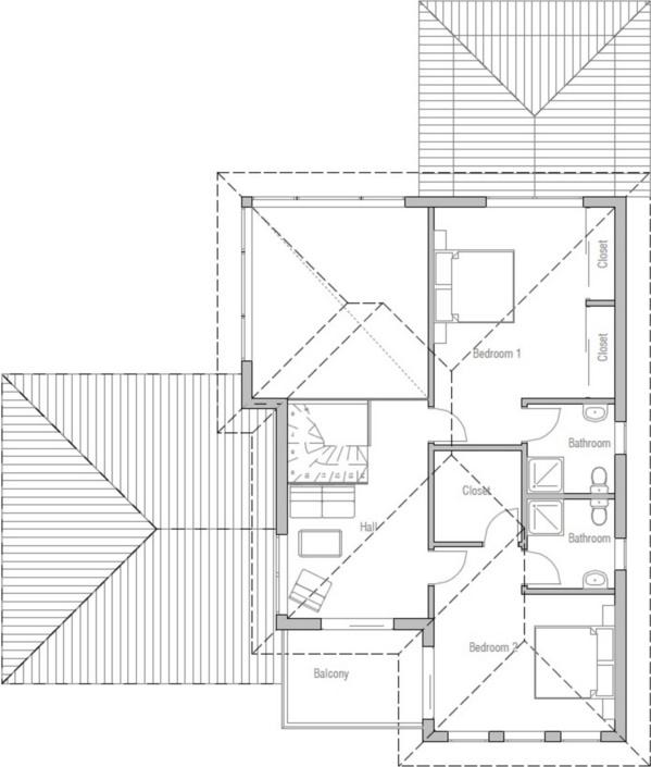 Casa moderna con ventanas