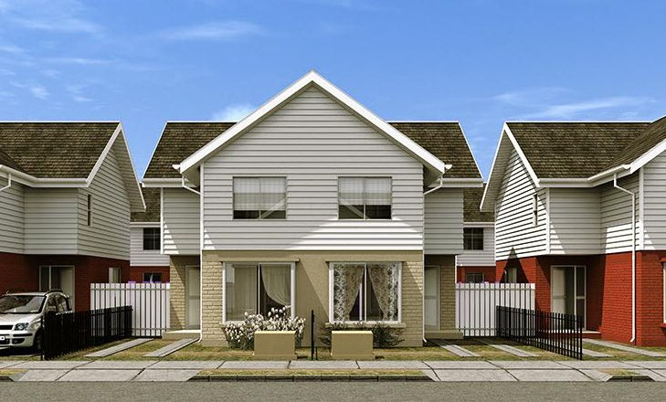 Casa simple de 2 pisos y 3 habitaciones