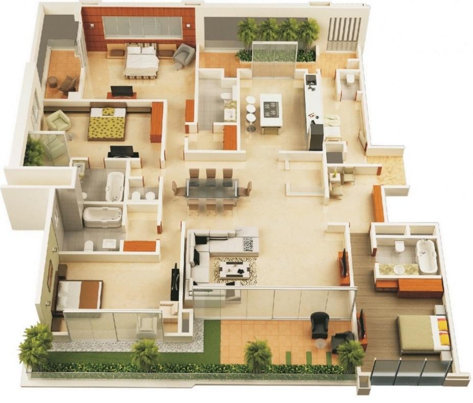 Casas modernas planos