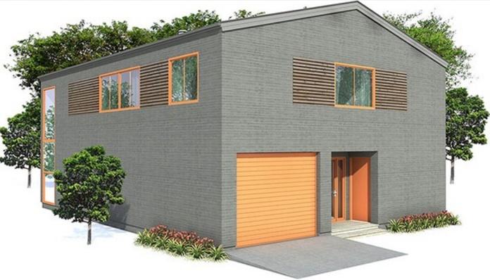 Fachada casa de dos pisos y 160 metros cuadrados con cochera