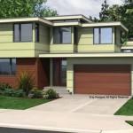 Plano de casa amplia con 3 dormitorios y 2 pisos