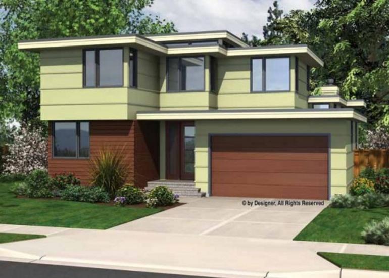Fachada de casa amplia con 3 dormitorios y 2 pisos