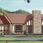 Plano de casa de estilo ingles