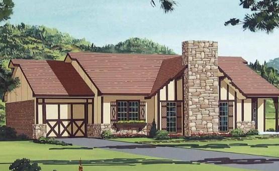 Plano de casa de estilo ingles for Casas de madera estilo americano