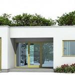 Plano de casa de un piso, dos garajes y 3 dormitorios