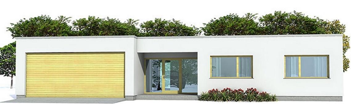 Plano de casa de un piso y tres dormitorios for Casas en garajes
