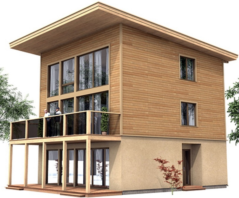 Plano de casa de 150 m2 for Fachadas de casas de 3 pisos modernas