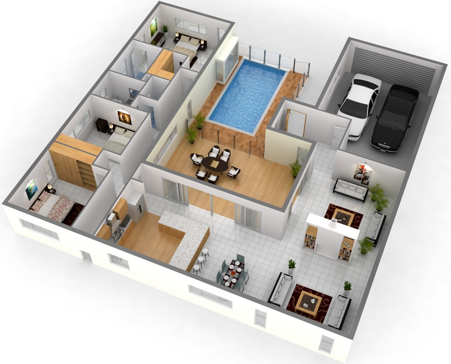 Programa para hacer planos de casas 3d house design drawings